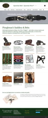 Ploughman's Belts came to Tangent Web Services for their online store and Wordpress support.